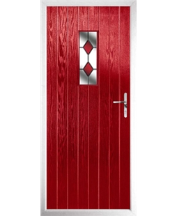 The Taunton Composite Door in Red with Red Diamonds