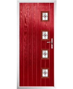 The Preston Composite Door in Red with Red Fusion Ellipse