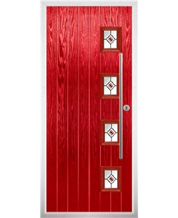 The Norwich Composite Door in Red with Red Fusion Ellipse