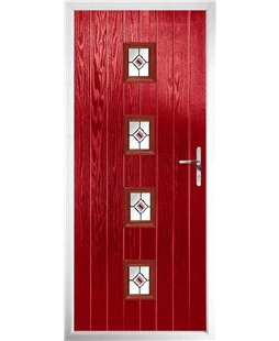 The Uttoxeter Composite Door in Red with Red Fusion Ellipse
