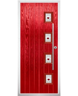 The Norwich Composite Door in Red with Red Murano