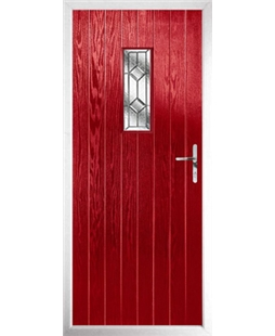 The Taunton Composite Door in Red with Simplicity