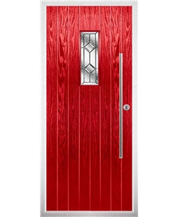 The Zetland Composite Door in Red with Simplicity