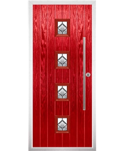 The Leicester Composite Door in Red with Simplicity