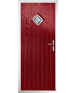 The Reading Composite Door in Red with Simplicity