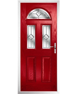 The Glasgow Composite Door in Red with Simplicity