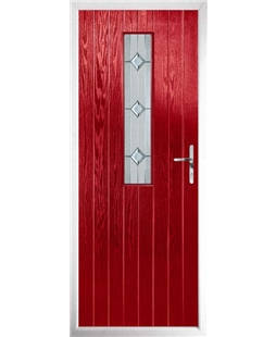 The Sheffield Composite Door in Red with Simplicity