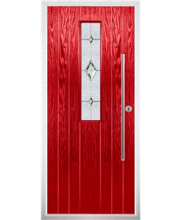 The York Composite Door in Red with Crystal Diamond