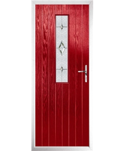The Sheffield Composite Door in Red with Crystal Diamond