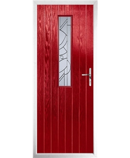 The Sheffield Composite Door in Red with Zinc art Abstract