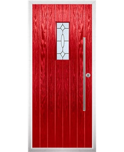 The Zetland Composite Door in Red with Zinc Art Clarity