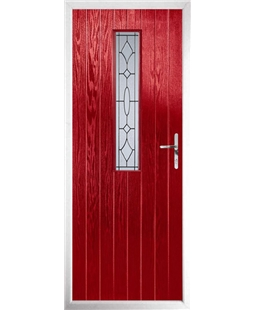 The Sheffield Composite Door in Red with Zinc Art Clarity