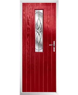 The Sheffield Composite Door in Red with Zinc Art Elegance