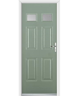 Ultimate Regency Rockdoor in Chartwell Green with Glazing