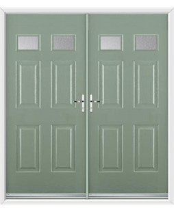 Regency French Rockdoor in Chartwell Green with Glazing