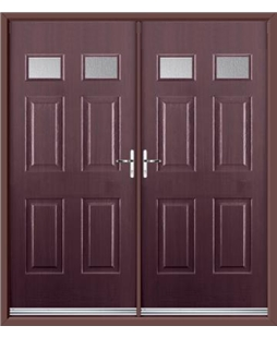 Regency French Rockdoor in Rosewood with Glazing