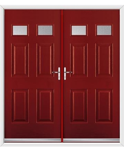 Regency French Rockdoor in Ruby Red with Glazing
