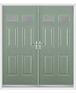 Regency French Rockdoor in Chartwell Green with Gluechip Glazing