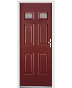 Ultimate Regency Rockdoor in Ruby Red with Gluechip Glazing