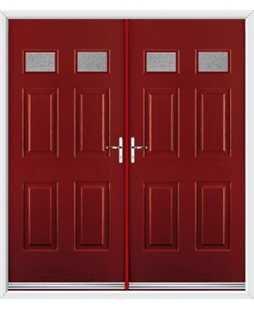 Regency French Rockdoor in Ruby Red with Gluechip Glazing