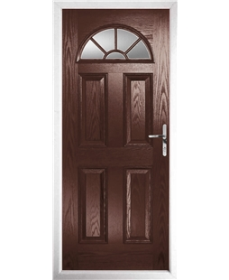 The Jamestown Composite Door in Rosewood with Clear Glazing