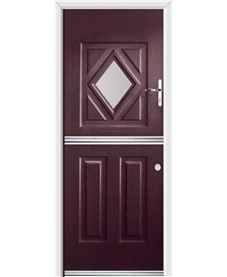 Ultimate Stable Diamond Rockdoor in Rosewood with Glazing