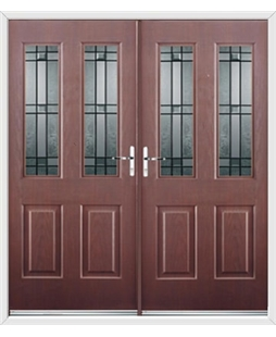 Jacobean French Rockdoor in Rosewood with Apollo