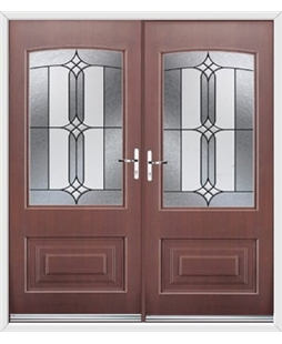 Portland French Rockdoor in Rosewood with Apostle Glazing