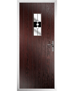 The Taunton Composite Door in Rosewood with Black Crystal Bohemia