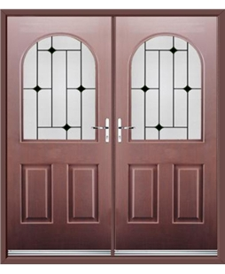 Kentucky French Rockdoor in Rosewood with Black Diamonds