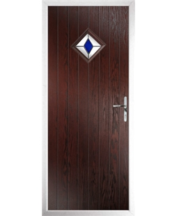 The Reading Composite Door in Rosewood with Blue Diamond