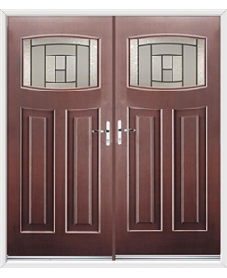 Newark French Rockdoor in Rosewood with Citadel Glazing
