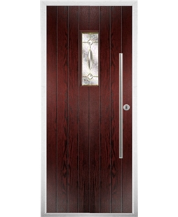 The Zetland Composite Door in Rosewood with Clarity Elegance