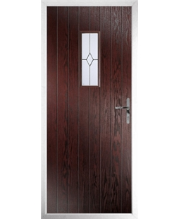The Taunton Composite Door in Rosewood with Classic glazing