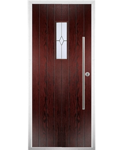 The Zetland Composite Door in Rosewood with Classic Glazing