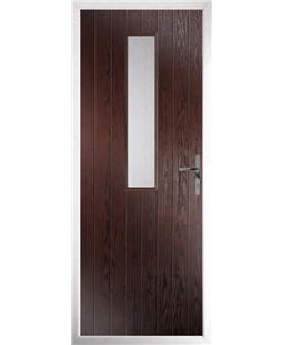 The Sheffield Composite Door in Rosewood with Clear Glazing