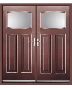 Newark French Rockdoor in Rosewood with Glazing