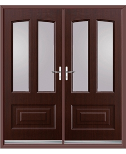 Illinois French Rockdoor in Rosewood with Glazing
