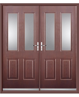 Jacobean French Rockdoor in Rosewood with Glazing