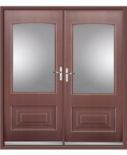 Portland French Rockdoor in Rosewood with Glazing