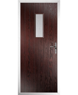 The Taunton Composite Door in Rosewood with Clear Glazing