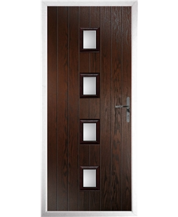 The Uttoxeter Composite Door in Rosewood with Glazing