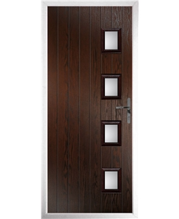 The Preston Composite Door in Rosewood with Clear Glazing