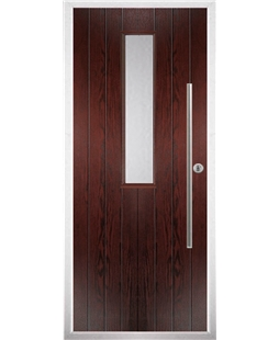 The York Composite Door in Rosewood with Clear Glazing