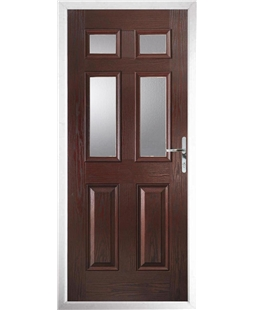 The Oxford Composite Door in Rosewood with Glazing