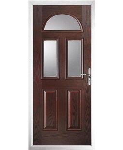 The Glasgow Composite Door in Rosewood with Glazing