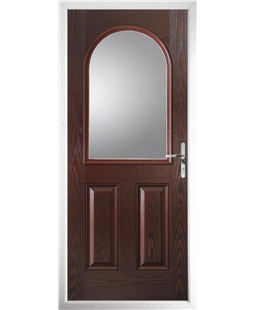 The Edinburgh Composite Door in Rosewood with Clear Glazing