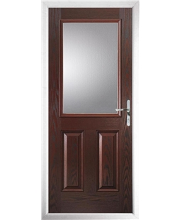 The Farnborough Composite Door in Rosewood with Glazing