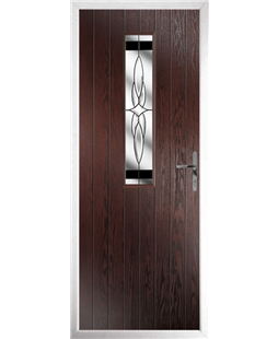 The Sheffield Composite Door in Rosewood with Black Crystal Harmony