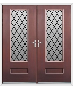 Vogue French Rockdoor in Rosewood with Diamond Lead